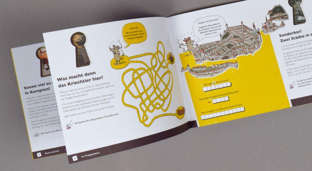 Innenseite des Aktivheftes für Kinder mit Labyrinth